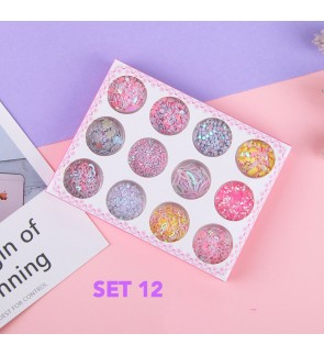 12in1 DIY GLITTERS, SPARKLE FOR ART & CRAFT, SLIME MAKING, NAIL ART POLISH