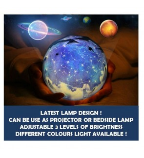 Galaxy Mini Lamp + Projector with 5 DESIGNS OF PROJECTION [CAN ROTATE]