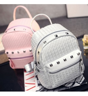 Korean Style Woman Stud Backpack Beg Fashion Bag Pack School Girl