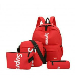 4in1 set Supreme Unisex backpack sling bag pouch pencil