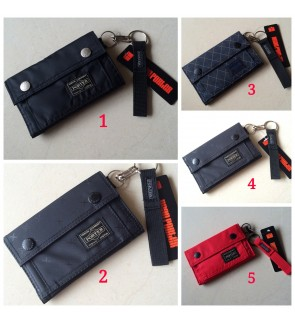 T) High Quality Japan Design Ptr Button Wallet with Waterproof Material + Free Key Holder