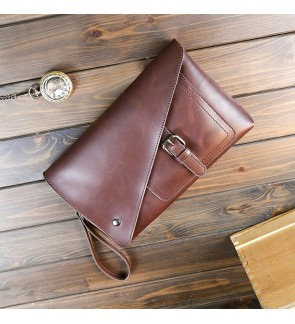 10) Men Classic High Quality PU Leather Clutch Bag Bag Tangan
