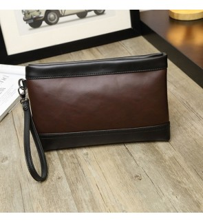 3) Men Classic High Quality Premium PU Leather Hand Carry Clutch Bag Tangan