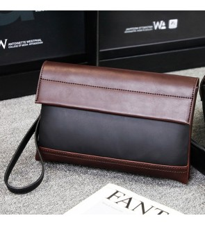 7) Men Classic High Quality Premium PU Leather Hand Carry Clutch Bag Tangan