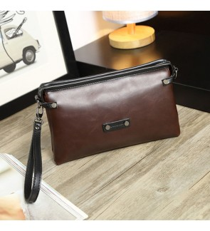 1) Men Classic High Quality Premium PU Leather Hand Carry Clutch Bag Tangan