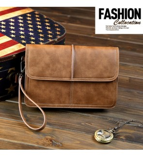 5) Men Classic High Quality Premium PU Leather Hand Carry Clutch Bag Tangan