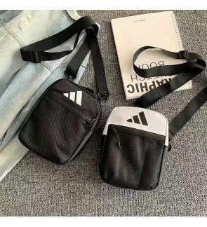 U) Adi Simple Black White Sling Bag