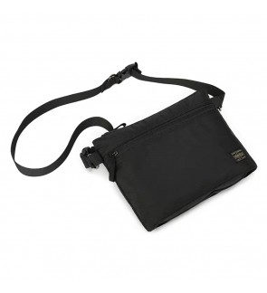 AX) Japan Design Porter Large Volume Square Sling Bag With Lots of Compartments