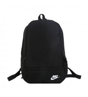 E) NK Small Logo Fashion Backpack School Bag Laptop Bag
