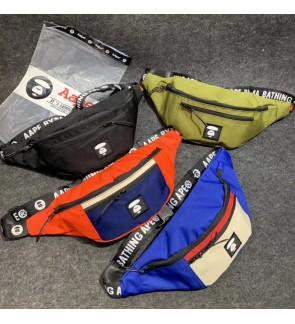 H) Very High quality BAPE bathing Ape Waist Bag Chest Bag Crossbody Bag