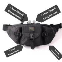 BE) High Quality Japan Design PTR Unisex High Quality Waist Bag Chest Bag crossbody Bag