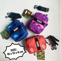 J) High Quality Waterproof Nylon Bape Sling bag Crossbody bag