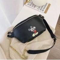 E) Waterproof Mickey Waist bag chest bag with Metal Zippers