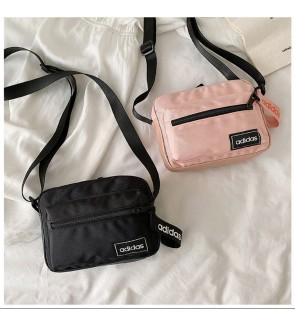 AE) Waterproof Adi Nylon Material Sling Bag Crossbody Bag Shoulder Bag WITH KEY HOLDER