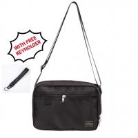 BH) JAPAN DESIGN WATERPROOF LARGE VOLUME PTR SLING BAG SHOULDER BAG WITH FREE KEYHOLDER